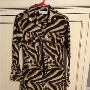 Newport News brand animal print sexy dress size 8